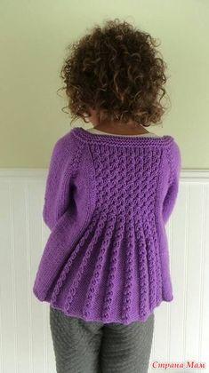 Diy Crafts - Ravelry: Marian Shrug pattern by Taiga Hilliard Designs Shrug Knitting Pattern, Kids Knitting Patterns, Knitting For Kids, Pull Crochet, Knit Crochet, Girls Sweaters, Baby Sweaters, Vogue Knitting, Ravelry