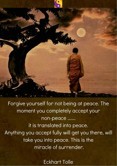 Forgive yourself...