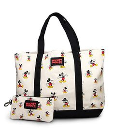 Disney Vintage Mickey Tote With Coin Bag - Bags - Disney - Brands Minnie Mouse, Vintage Mickey Mouse, Mickey Mouse And Friends, Disney Mickey Mouse, Disney Tote Bags, Disney Handbags, Disney Purse, Disney Outfits, Disney Fashion