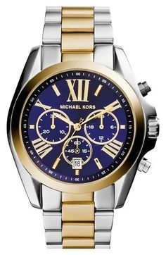 Shiny two-tone Michael Kors watch for him.