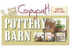 Pottery Barn Copycats! Get the look for less @TheBlissfulBeeBlog