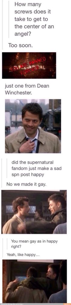 Supernatural having an inside joke with itself.