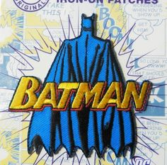 Dc comics super hero patches iron on applique patch batman batman with cape iron on applique motif patch pronofoot35fo Gallery