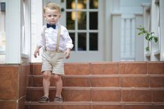 beige/tan seersucker toddler boys shorts by cuppycakeclothing:  https://www.etsy.com/shop/CuppyCakeClothing  suspenders and bow tie for toddler boy ring bearer by ClipABowTie: https://www.etsy.com/shop/ClipABowTie