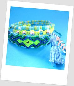 Friendship bracelet  Neon Multicolor Jewelry by TheTreeOfHappiness, $20.00