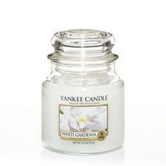White Gardenia Scented Candle : Medium Jar Candle : Yankee Candle
