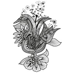 488dsn Fleur du Brancovan 13 - drawing zentangle Lotus Flower, Zentangle, Tattoos, Drawings, Flowers, Tatuajes, Zentangle Patterns, Tattoo, Sketches