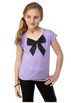 DKNY Lavender Bow Top - Fall 2013