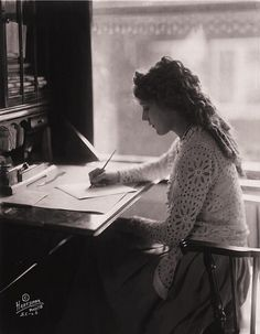 Here is to looking fabulous while creating -- Mary Pickford at her writing desk