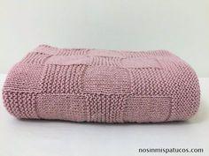 Tutorial manta damero a 2 agujas | www.nosinmispatucos.com
