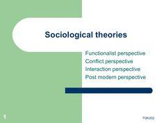 Sociological theories by Farooq Abdullah via slideshare