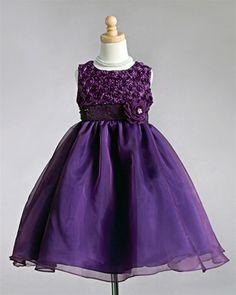 So cute! $59.95 purple flower girl dress