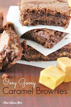 caramel brownies pinterest