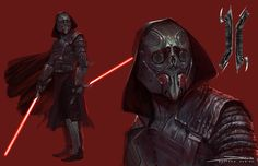 Darth Caecus by MattDeMino on DeviantArt Star Wars Sith, Rpg Star Wars, Images Star Wars, Star Wars Characters Pictures, Sci Fi Characters, Star Wars Fan Art, Star Wars Concept Art, Star Citizen, Sith Armor