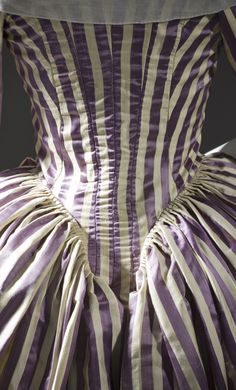 Back detail, Robe a l'anglaise, 1785-90 From LACMA