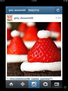 It's so cute and simple chocolate cup cake icing and strawberry