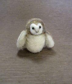 Needle Felted Animal Barn Owl Needle Felted Owl small by boridolls, $12.00