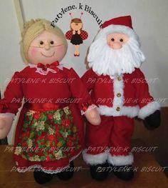 Resultado de imagen para papai noel de tecido Christmas Elf Doll, Christmas Projects, Christmas Ornaments, Coloring Book Art, Christmas Inspiration, Art Dolls, Santa, Teddy Bear, Holiday Decor