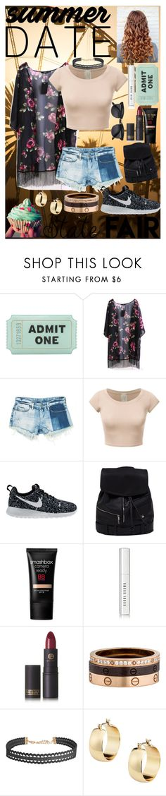 """""""Summer Date: The State Fair"""" by emmie-1599 ❤ liked on Polyvore featuring Kate Spade, Sans Souci, NIKE, Smashbox, Bobbi Brown Cosmetics, Lipstick Queen, Cartier, Humble Chic, statefair and summerdate"""