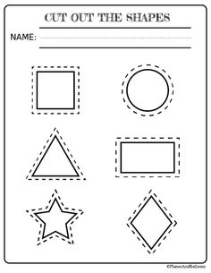picture relating to Printable Shapes to Cut Out known as 12 Least complicated Form Coloring Internet pages visuals in just 2017 Stencil