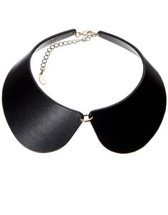 Ff Faux Leather Peter Pan Collar