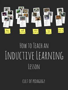 How to Teach an Inductive Learning Lesson: This strategy really taps into students' higher-order thinking skills. Step-by-step video instructions are included!