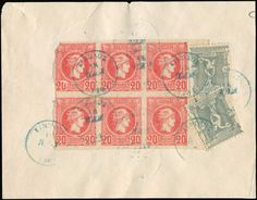 Large part of a front cover franked with bl.6x20l. Small Hermes Head plus two singles 10l. 1896 Olympics ...