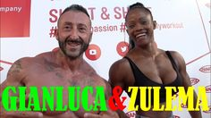 ZULEMA DURAN e GIANLUCA DEGORTES training STAND PANATTA at RIMINI WELLNE...