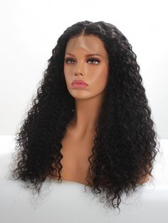 - Available Type 3 Hair Natural Curly Human Hair Wig with Deep Parting Lace Front Cap - Human Hair Wigs - EvaWigs Short Hair Wigs, Curly Wigs, Human Hair Wigs, Lace Front Wigs, Lace Wigs, Hair Extensions Near Me, Black Hair Types, Wholesale Human Hair, Dyed Blonde Hair