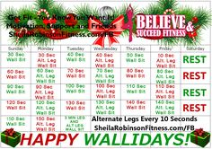 December fitness challenge, December monthly fitness challenge, December exercise challenge, monthly fitness challenge, monthly exercise challenge.  See the full article @ www.SheilaRobinsonFitness.com  Happy Wallidays!