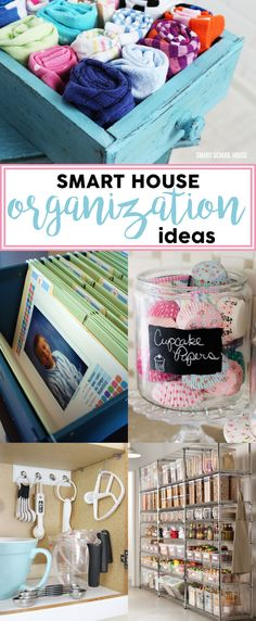 From our garage to our kitchen. From the school work areas to the bedrooms. Check out these smart home organization ideas!