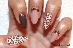 Fall Leopard Nails