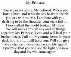 To My Princess Bible Verses Quotes, Faith Quotes, Scriptures, Prayer Quotes, Jesus Quotes, Quotes About God, Quotes To Live By, Juan Xxiii, Gods Princess