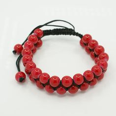 PandaHall Jewelry—Shamballa Style Bracelets with Painted Baking Glass Beads | PandaHall Beads Jewelry Blog
