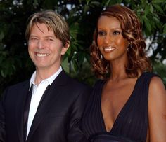 Bowie and Iman in 2002. | David Bowie: A Life In Pictures - BuzzFeed News