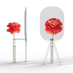 Vaso de flores com lente de aumento, um ar sofisticado no seu ambiente.