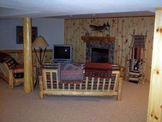 Fieldstone fireplace in the lower level -- MLS #143428 - 1436 Creek Channel Ln #30, St Germain, WI 54558