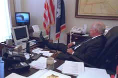 Newly opened photo archives show America's top brass in the immediate aftermath of 9/11...
