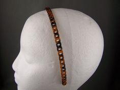 4.45$  Buy now - http://vizrl.justgood.pw/vig/item.php?t=fu7fsm1254 - Brown thin skinny plastic chain link headband hair band accessory grip teeth