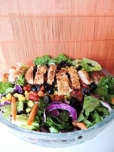We're saddling up for Tesa's Simple Southwestern Chicken Salad from 2Wired2Tired --#recipe #freshtake #summer