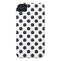 Black Marigold on White iPhone 4 Case
