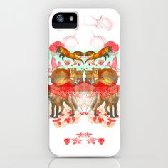 Foxes iPhone & iPod Case by Edward Yeung - $35.00 foxes dreaming, playing together in the meadow