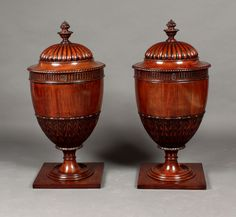 Antique pair of knife urns - Stock - Moxhams Antiques