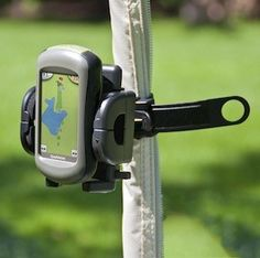 "Universal Golf GPS Mount:  The strap can be used with round or circular tubing on Golf Carts and Push Carts. The Grip-iT's arms can adjust to devices that are 4.5"" wide."