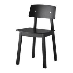 SIGURD Stol IKEA Du sitter bekvämt tack vare den formade ryggen och skålade sitsen. Den klarlackerade ytan är lätt att torka av.