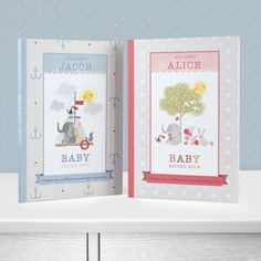 Personalised Baby Record Book - Baby Record Book for a Girl