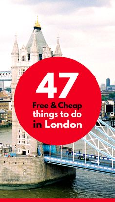 Take your trip with Glamulet charmsIf you're planning to spend time in London on a budget, be sure to look at these 47 cheap and free things to do in London. Also great for families with kids London Eye, Sightseeing London, London Travel, Cheap Things To Do, Free Things, Places To Travel, Travel Destinations, Travel Tips, Travel Hacks