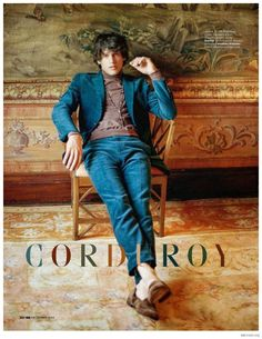 Corduroy Cool: Simon van Meervenne Rocks Fall Corduroy Styles for British GQ