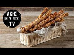 Αλμυρά Κριτσίνια Σφολιάτας Επ. 1 | Kitchen Lab TV | Άκης Πετρετζίκης - YouTube Food And Drink, Snacks, Vegetables, Youtube, Cookies, Crack Crackers, Appetizers, Biscuits, Vegetable Recipes