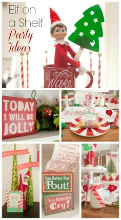Great Elf on a Shelf Christmas party ideas! See more party ideas at CatchMyParty.com. #elfonaself #christmas #partyideas